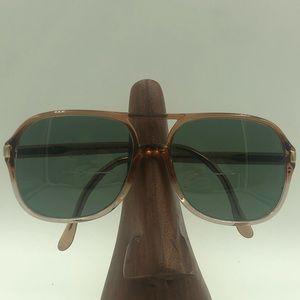 Vintage Luxottica Brown Aviator Sunglasses Frames